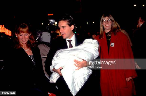 American film director Chris Columbus and his wife Monica Devereux arrive at a screening of his film 'Home Alone 2 Lost in New York' Chicago Illinois...