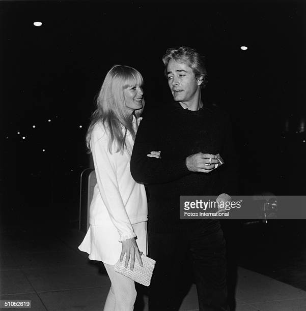 American film director John Derek and his wife, actor Linda Evans, attend the Daisy Club anniversary party, October 23, 1968.