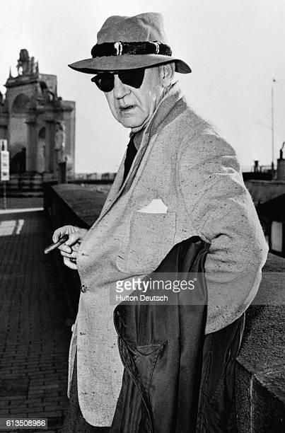 American film director John Ford in Naples 1954
