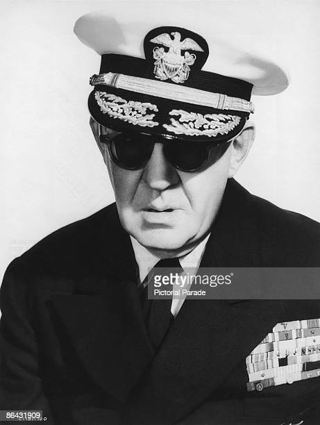 American film director John Ford in uniform as a Rear Admiral in the United States Naval Reserve circa 1957