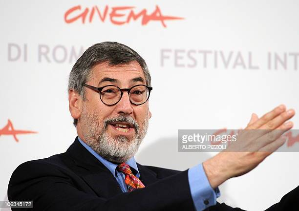 American film director John Landis poses during the photocall of his last movie Burke Hare presented in Alice nella città section at the 5th Rome...