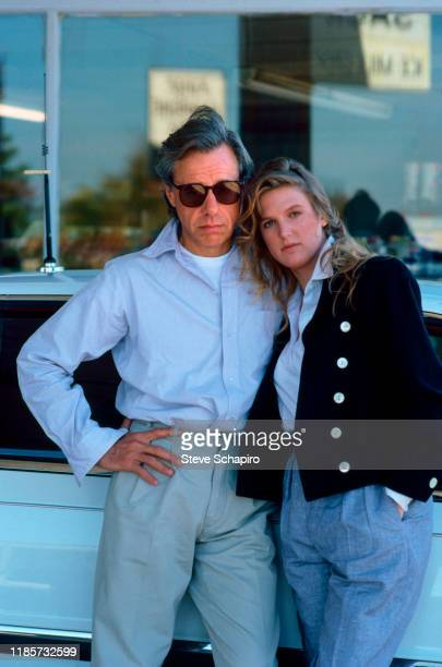 American film director Peter Bogdanovich and Canadian teenager Louise Hoogstraten talk together Los Angeles California 1983 The couple married three...