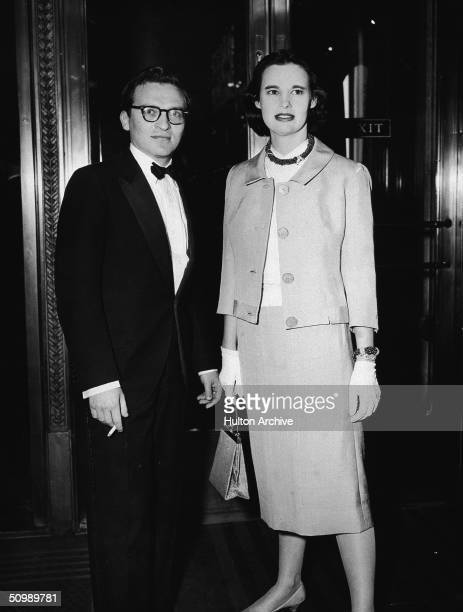 American film director Sidney Lumet and his second wife American heiress and designer Gloria Vanderbilt attend the premiere of his debut movie '12...