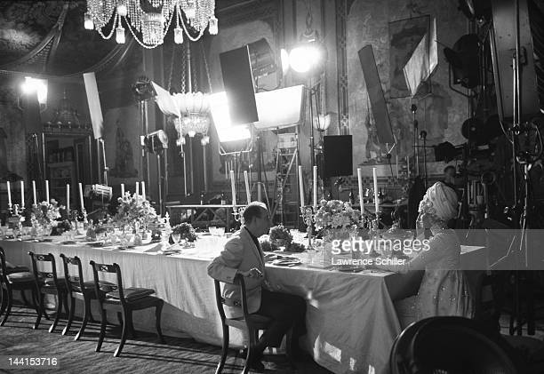 American film director Vincente Minnelli and actress and singer Barbra Streisand discuss a scene during the filming of 'On a Clear Day You Can See...
