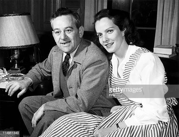 American film director William Wyler with his second wife actress Margaret Tallichet at their home in Beverly Hills January 1947