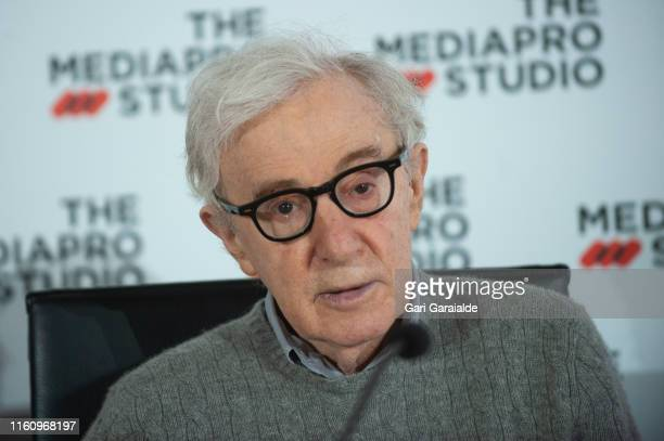 American film director Woody Allen attends a Press Conference at Kursaal auditorium to talk about the new film he is filming in San Sebastian on July...