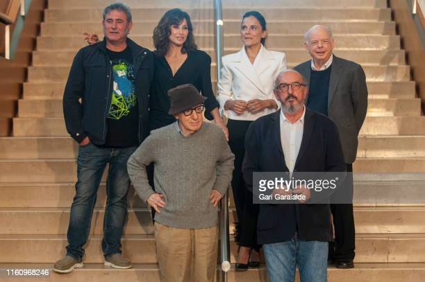 American film director Woody Allen , Spanish film producer Jaume Roures and actors Sergi Lopez , Gina Gershon , Elena Anaya and Wally Shawn attend a...