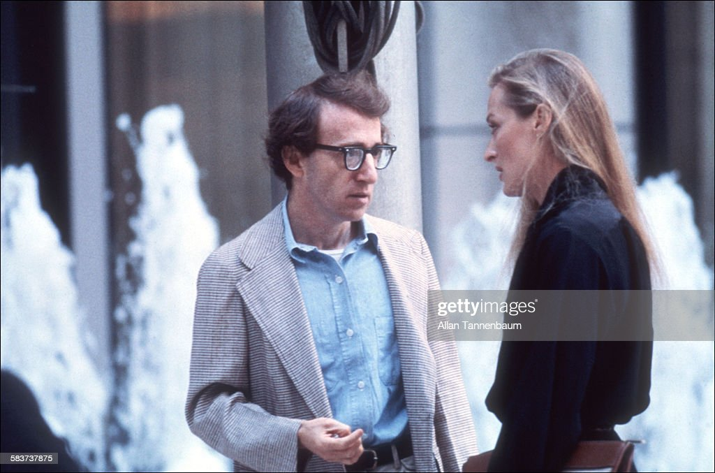 Woody Allen Directs Meryl Streep In 'Manhattan' : News Photo