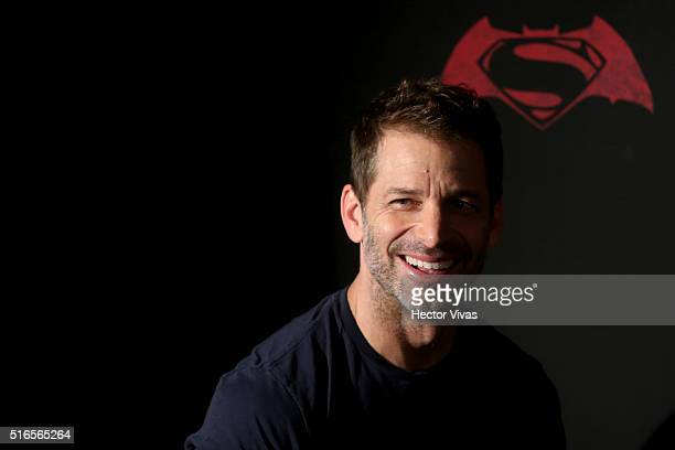 American film director Zach Snyde poses for pictures during the Batman v Superman Movie photocall at St Regis Hotel on March 19 2016 in Mexico City...