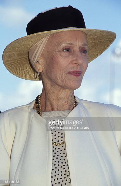 American film festival in Deauville France on September 12 1992 Jessica Tandy