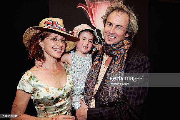 American film maker Bennett Walsh his wife Elizabeth and daughter Sally attend the Melbourne Cup Carnival's Derby Day in the Moet et Chandon marquee...