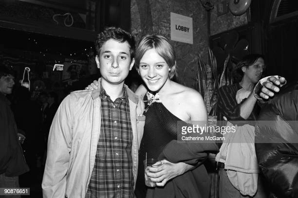 American film maker Harmony Korine and American actress Chloe Sevigny pose for a photo at the party for the film 'Trees Lounge' in October 1996 in...