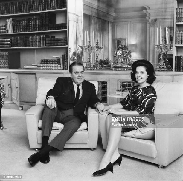 American film producer Albert 'Cubby' Broccoli with his wife Dana, UK, 29th May 1967.