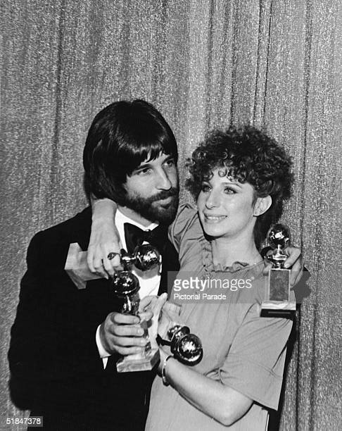 American film producer and former Hollywood hairstylist Jon Peters and American actress and singer Barbra Streisand each hold two Golden Globe awards...