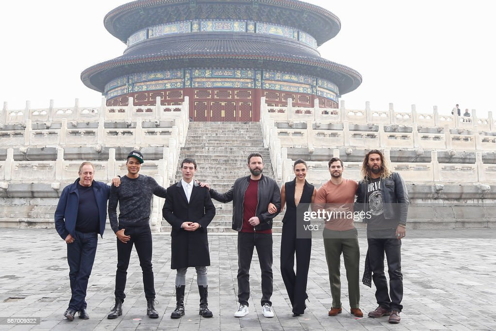 "Stars Of ""Justice League"" Visit Temple Of Heaven In Beijing"