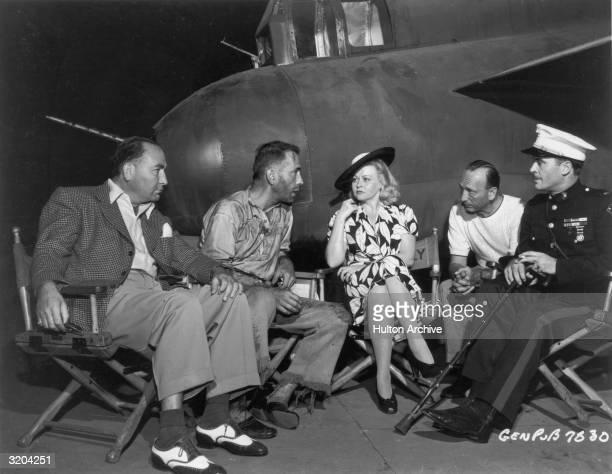 American film producer Hal B Wallis American actor Humphrey Bogart Bogart's wife actor Mayo Methot Hungarianborn film director Michael Curtiz and...