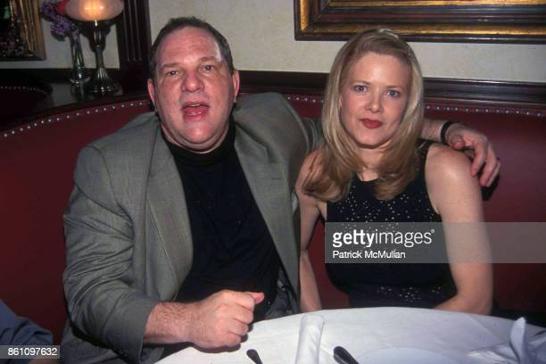 American film producer Harvey Weinstein and his wife Eve Chilton attend the opening of the Baldoria restaurant New York New York May 10 2000