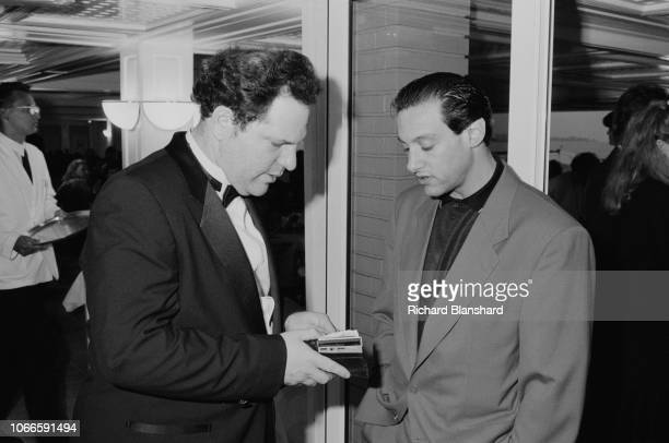 American film producer Harvey Weinstein at the 1989 Cannes Film Festival France May 1988 'Sex Lies and Videotape' distributed by Weinstein's company...