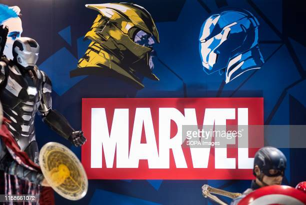 American film production label owned by Disney, Marvel Studios, booth at Ani-Com & Games event in Hong Kong.