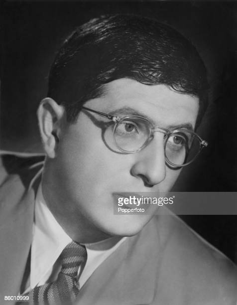 American film score composer Bernard Herrmann conductor of the Columbia Broadcasting System Symphony Orchestra circa 1935