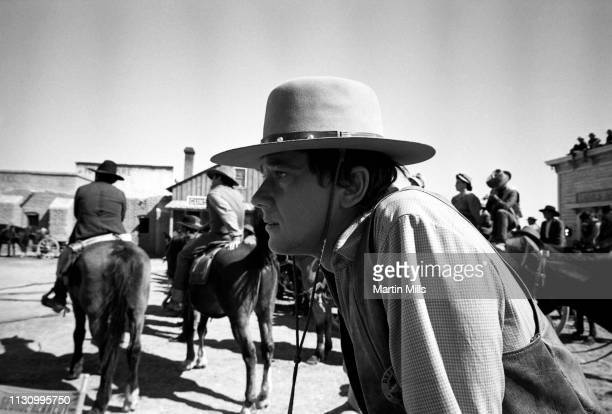 American film stage and television actor Andrew Prine poses for a portrait while on the set of the 20th Century Fox film 'Bandolero' in 1967