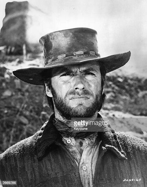 American film star and director Clint Eastwood in one of the westerns which made his name