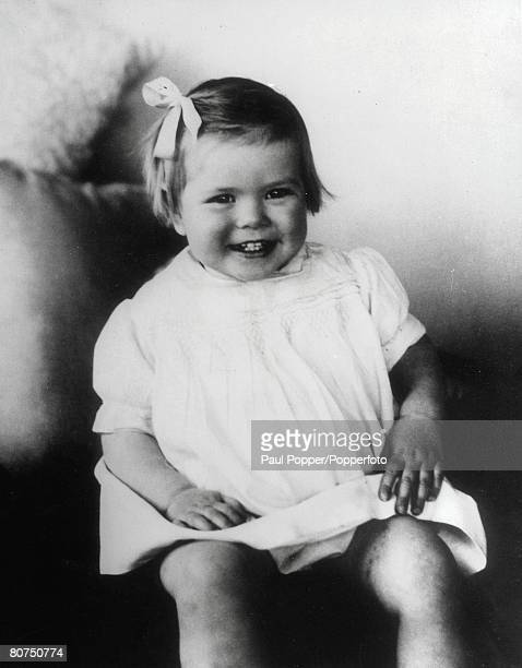 1931 American film star and Princess of Monaco Grace Kelly pictured as a young girl at the age of two years old