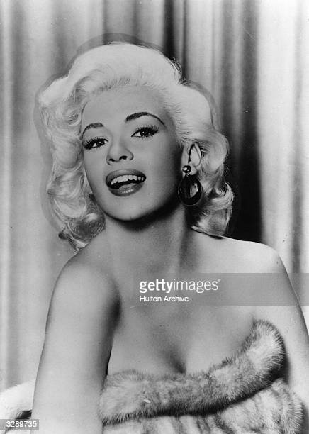 American film star Jayne Mansfield formerly Vera Jane Palmer stars as curvaceous star Jerri Jordan in 'The Girl Can't Help It' directed by Frank...