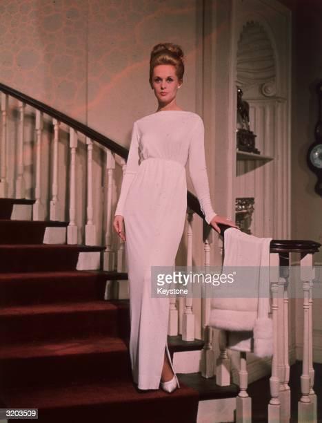 American film star Tippi Hedren stars in the Hitchcock film 'Marnie' 1964