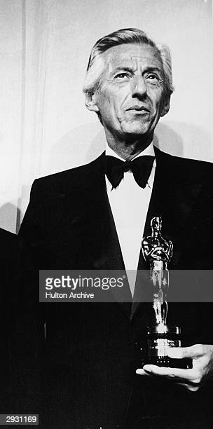 American film studio head Lew Wasserman accepts the Jean Hersholt Humanitarian Award at the 64th Annual Academy Awards Ceremony Los Angeles...