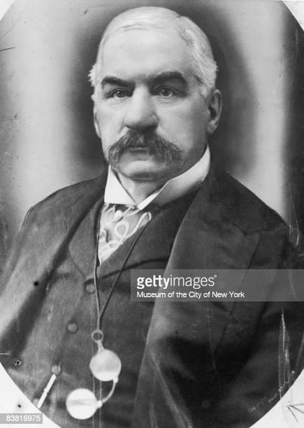 American financier J P Morgan circa 1900