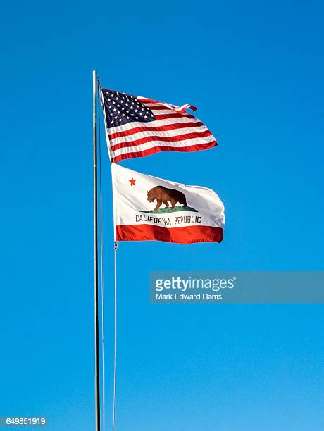 American Flag and California Flag