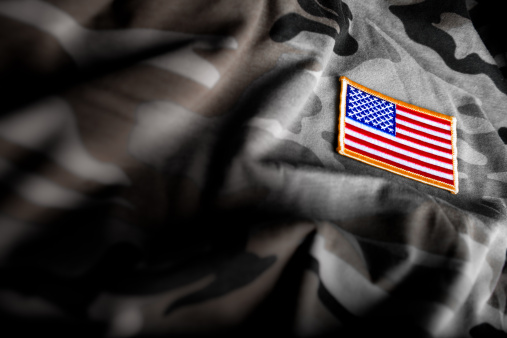 American Flag and Camoflage (Military Series) 154945264