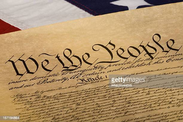 american flag and declaration of independance - declaration of independence stock pictures, royalty-free photos & images
