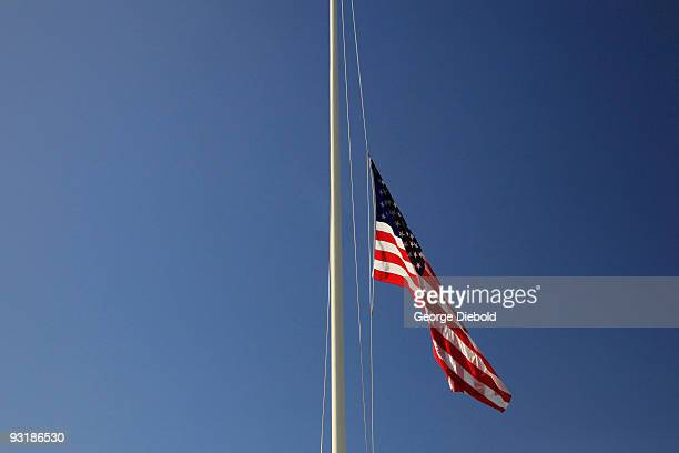american flag at half mast - half mast stock photos and pictures