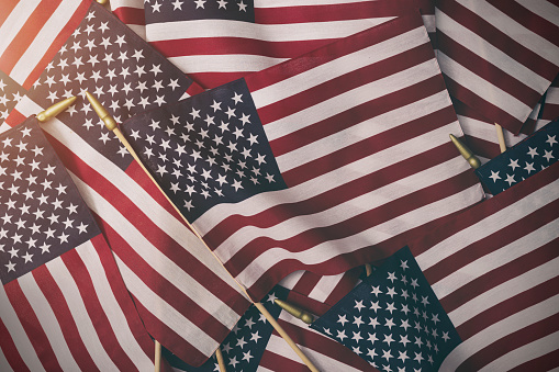 American Flag Background - Fourth of July 1156175517