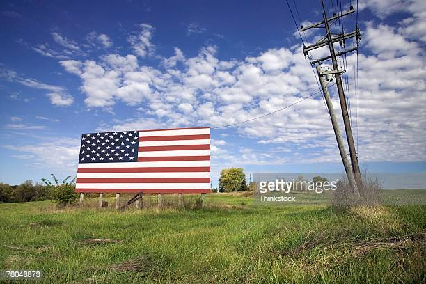 American flag billboard