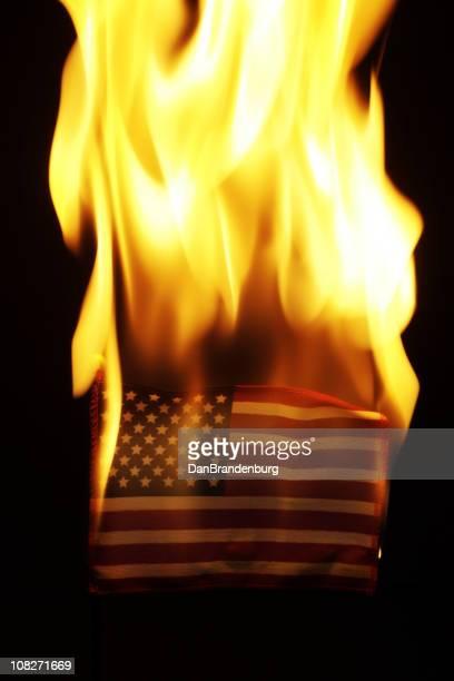 Bandeira dos Estados Unidos da América de queimadura