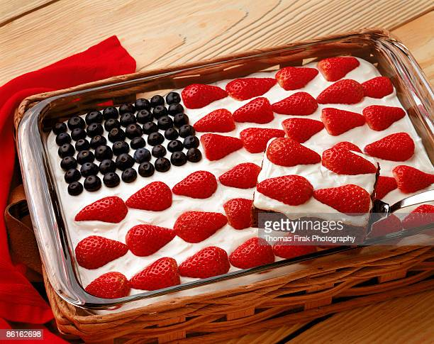 american flag cake -  firak stock pictures, royalty-free photos & images