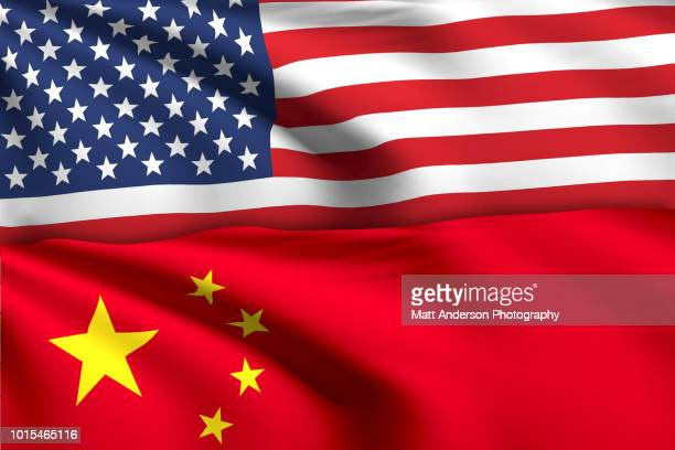 american flag china flag no effect no texture. - american stock pictures, royalty-free photos & images