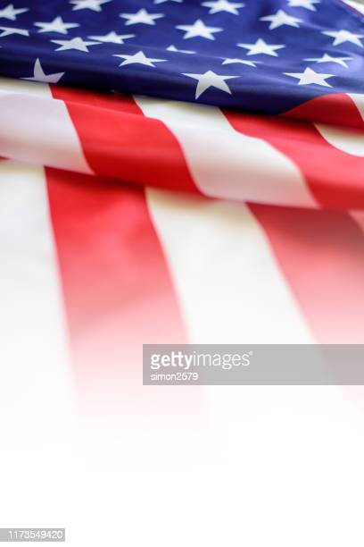american flag close up - independence day stock pictures, royalty-free photos & images