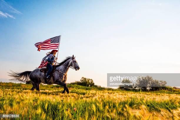 American Flag Cowgirl