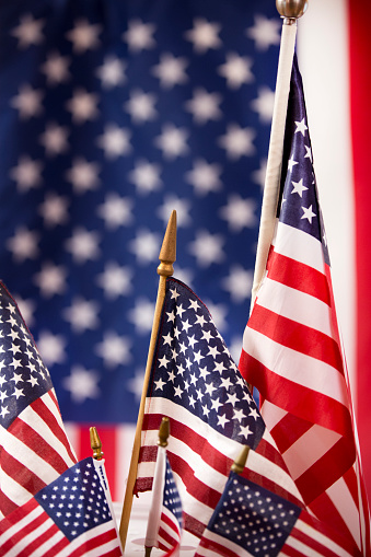 American Flag flies freely over America. 1275958074
