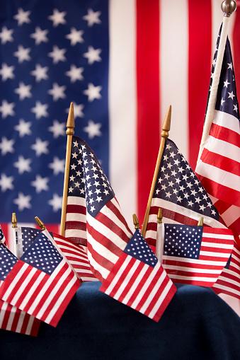 American Flag flies freely over America. 1275959333