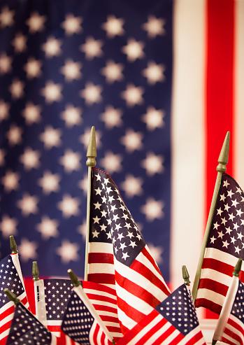 American Flag flies freely over America. 1275959359