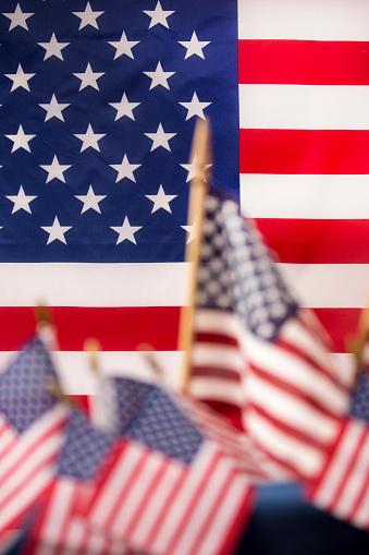 American Flag flies freely over America. 1275959361