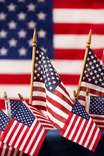 American Flag flies freely over America. 1275959362