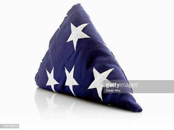 American flag folded in a triangle