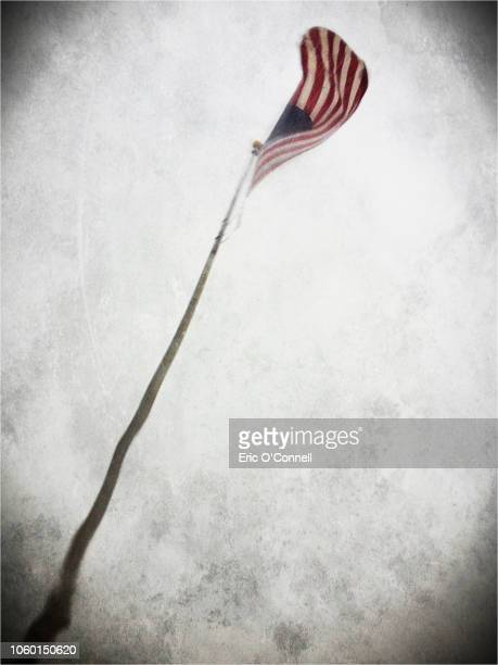 american flag in rain illustration - flagpole sitting stock photos and pictures