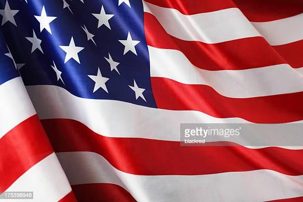 Bandeira americana no vento